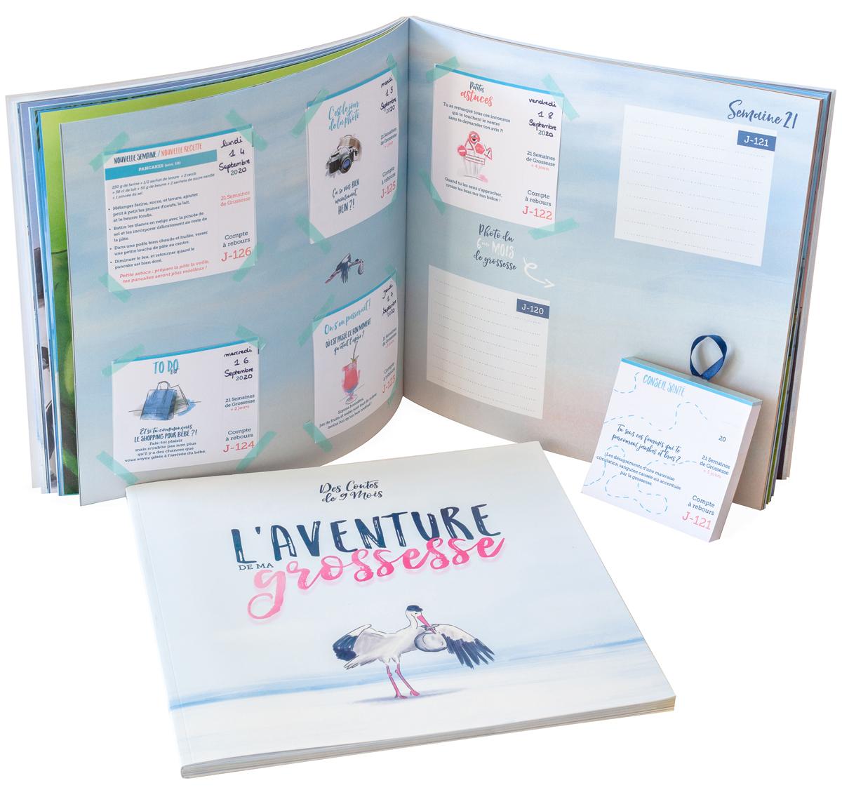 Album et calendrier de grossesse pour future maman