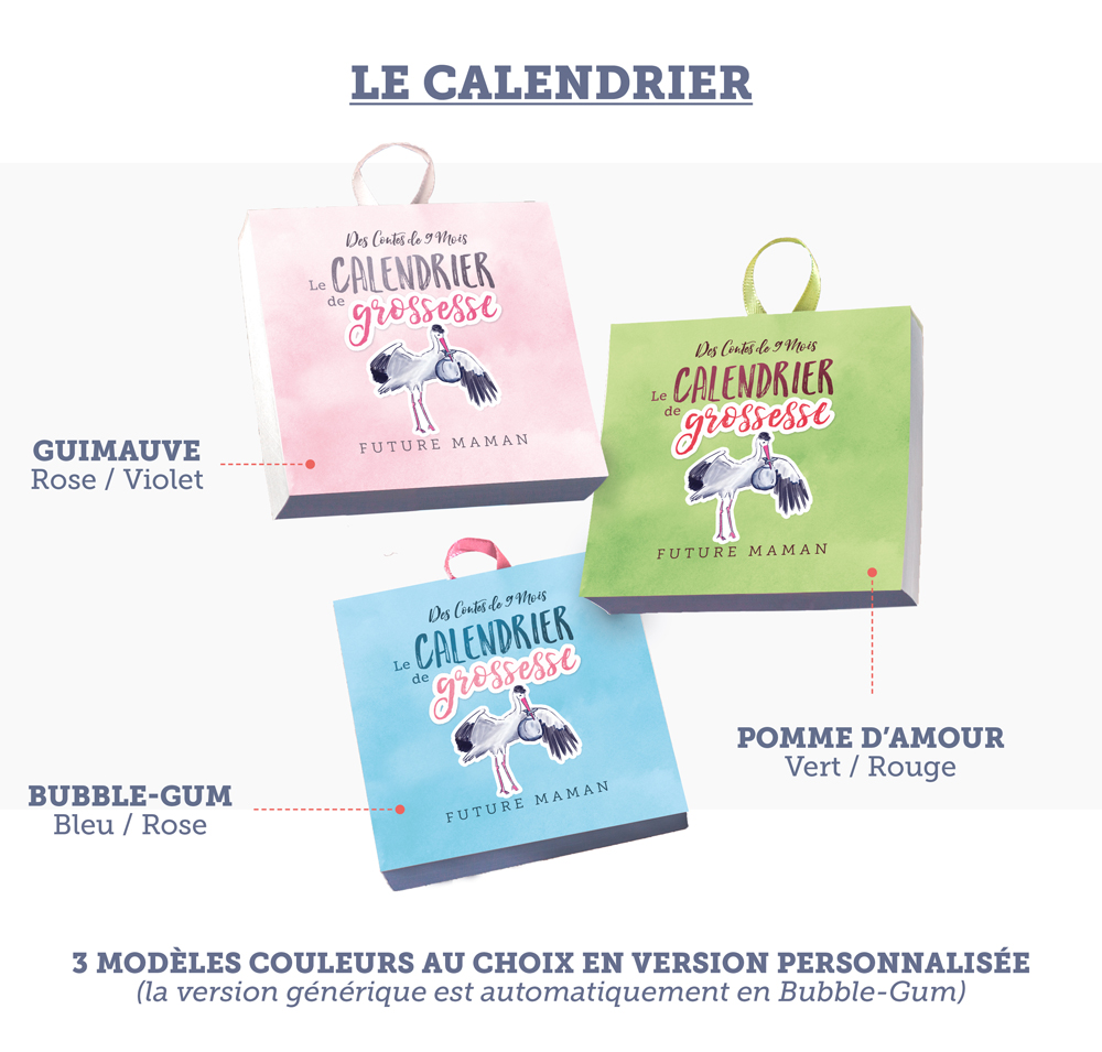 Calendriers Grossesse Choix Couleurs