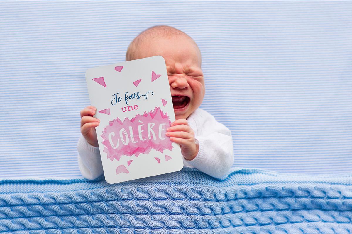 Carte Etape Bébé -Je fais une colère