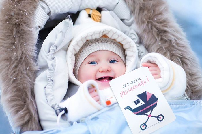 Carte Etape Bébé - Je fais une promenade
