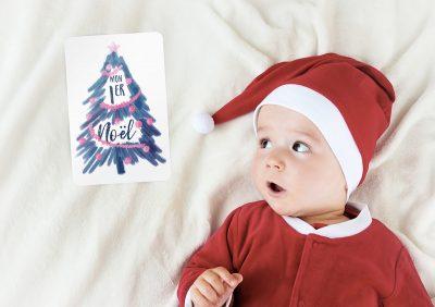 Carte Etape Bébé - Mon premier Noël