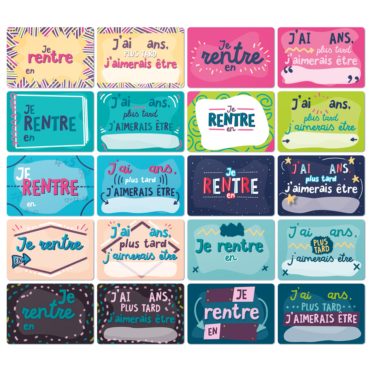 Lot Cartes Etapes Souvenirs d'école
