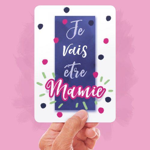 Carte Annonce - Je vais être mamie