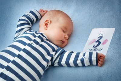 Baby 3 months old - Milestone Card