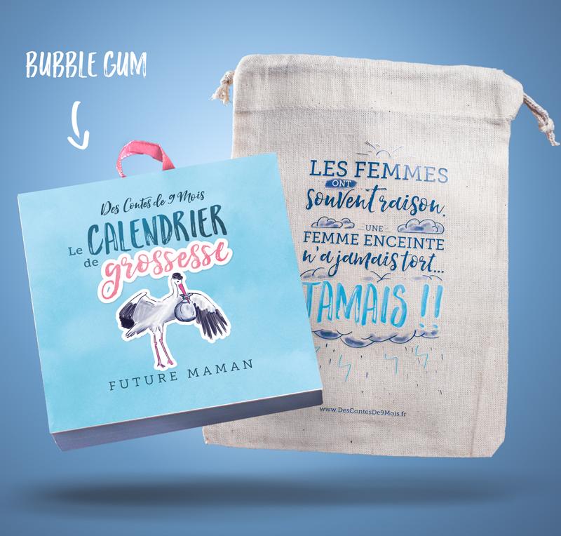 Calendrier Grossesse Femme Enceinte Bubble Gum