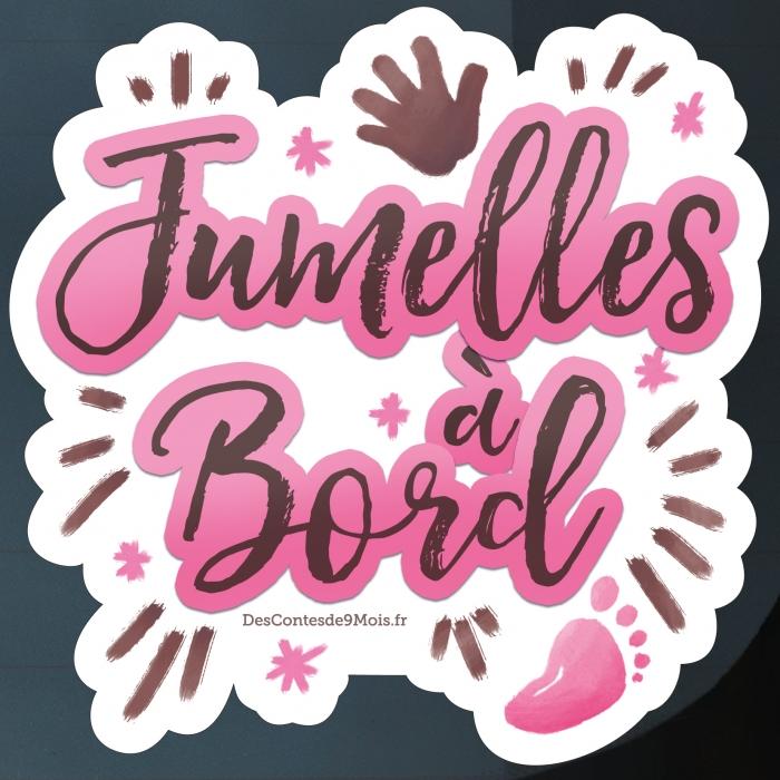 Sticker Bébé Jumelles à Bord
